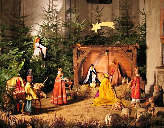 Weihnachts Krippe in der